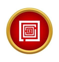 Labyrinth icon in simple style vector