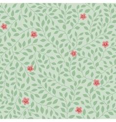 Leaves pattern flowers vector