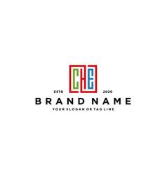 Letter che square colorful logo design vector