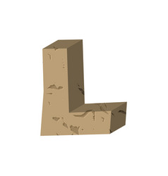 Letter l stone font rock alphabet symbol stones vector