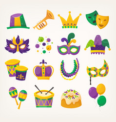 mardi gras - traditional spring holiday vector image