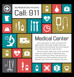 medical and health center background vector image