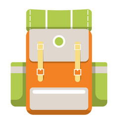 Medium travel backpack icon vector