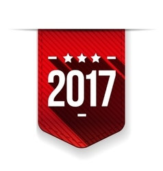 New Year 2017 red ribbon vector