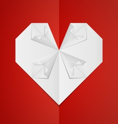 Origami-Heart vector