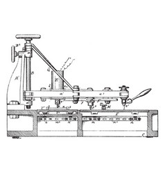 Pantograph machine wall mounted mirrors vintage vector