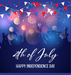 party crowd on a 4th july independence day vector image