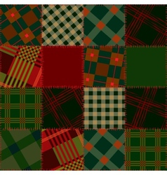 Patchwork St Patricks Day vector image