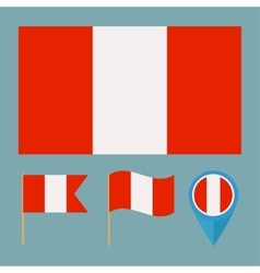 Perucountry flag vector image