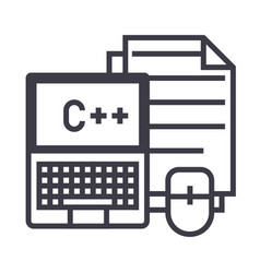 programmingcodingnotebook mouse docs vector image