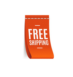 realistic detailed 3d free shipping label vector image