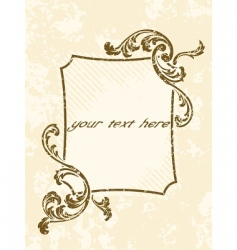 rectangular grungy vintage sepia frame vector image
