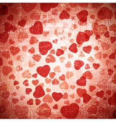 red heart grunge background vector image