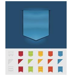 ribbons and tags vector image