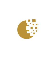 Round cookie digital logo designs inspiration vector