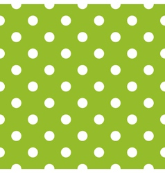 Seamless green pattern with white dots vector image