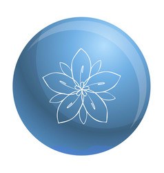 season flower icon simple style vector image