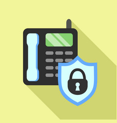 Secured intercom icon flat style vector