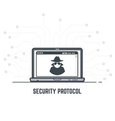 security protocol vector image