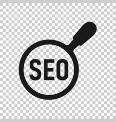 seo analytics icon in transparent style social vector image