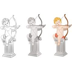 set of cupids vector image vector image
