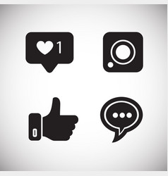 social media icons on white background vector image