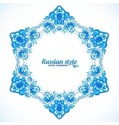Star frame in gzhel style vector image