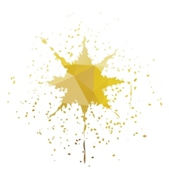 Star-Shaped Ink Splatter vector