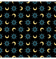 Stars and moons magical seamless pattern vector