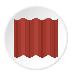 steel colored goffered plate for roof icon circle vector image