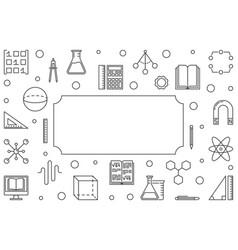 stem education outline horizontal frame vector image