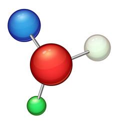 structure molecule icon cartoon style vector image