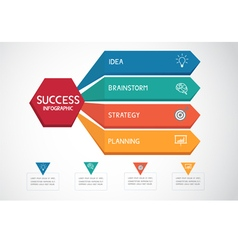 Successful business concept infographic template vector image