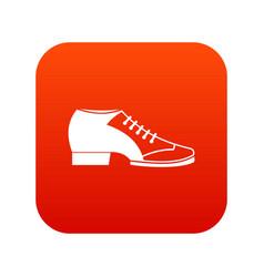 tango shoe icon digital red vector image