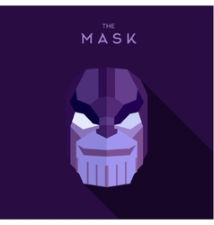 The villain in a purple mask flat head style vector
