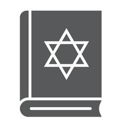 torah book glyph icon israel and religion jewish vector image