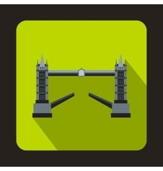 Tower Bridge London icon in flat style vector image