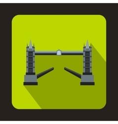 Tower bridge london icon in flat style vector
