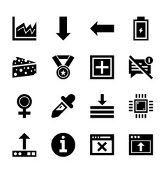Ui set of icons vector