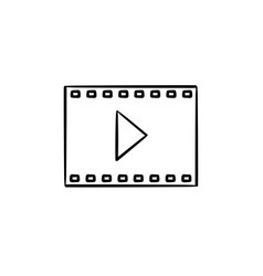 Video frame of entertainment movie hand drawn vector