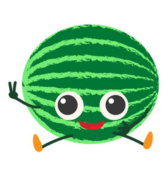 watermelon icon cartoon style vector image
