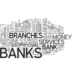 when banks explode text word cloud concept vector image