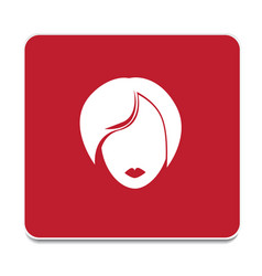 woman icon vector image