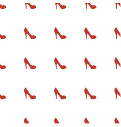 woman shoe icon pattern seamless white background vector image