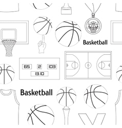 Basketball icons pattern vector image vector image