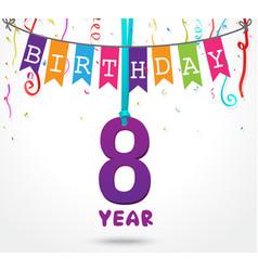 Birthday celebration greeting card design vector