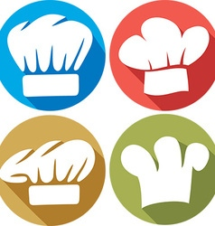 Chef Hat Icon Set vector image vector image