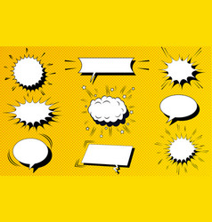 comic white blank speech clouds collection vector image