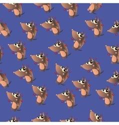 cute cartoon armadillo vector image vector image