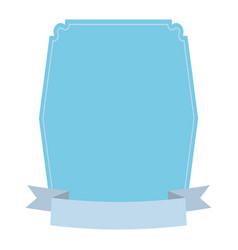 label decoration ribbon icon vector image